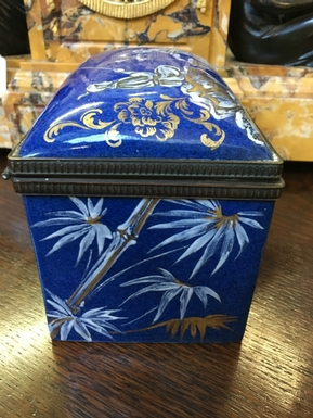 style Box in Porcelain, French Paris 19th Century