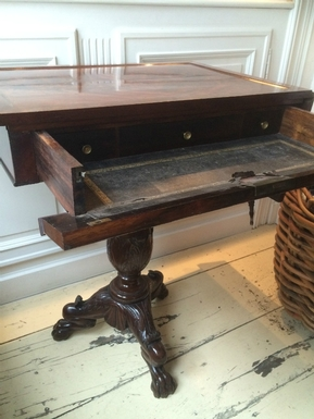 Charles X style Writing table in Mahogany, French 19th Century