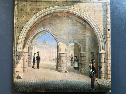 Empire style Fine painting  in oil on panel, French 1800's