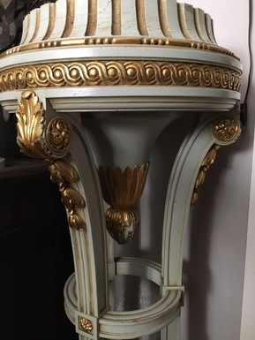 Napoleon III style Column in painted / gilded wood / marble, French 19th Century