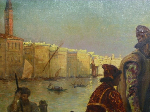 style Painting  in oil on canvas, French 1900