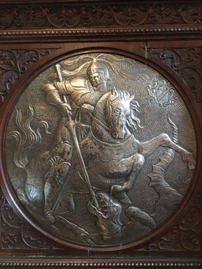 Renaissance style Bas relief in Silver, French 19th Century