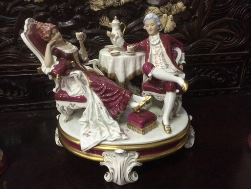 Royal Dux style Porcelain group in porcelain 20th Century